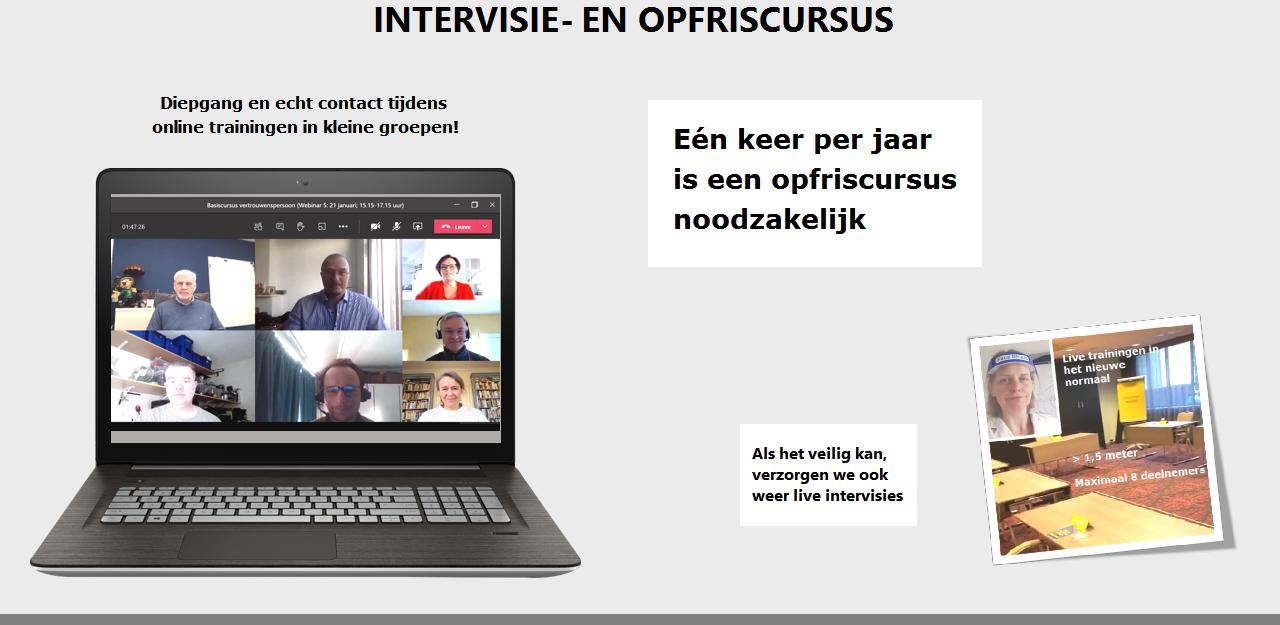 Online intervisie en opfris cursus vertrouwensonen